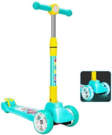 点滅PUホイール、3から16歳までの子供のための高さ調節、エクストラワイドデッキとリアダブル車輪ブレーキと、子供のために操縦するためにリーンスクーターキック