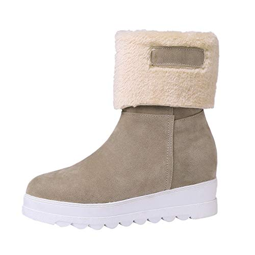 for Shoes,AIMTOPPY Female Round Head Wedge with Inner Suede and Two Warm Winter Boots