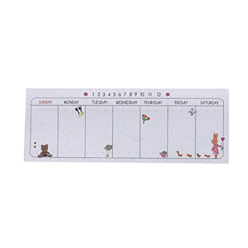 NewKelly Durable Week Weekly Plan Schedule Check Sheet Scratch Pad Memo Paste Note (3)