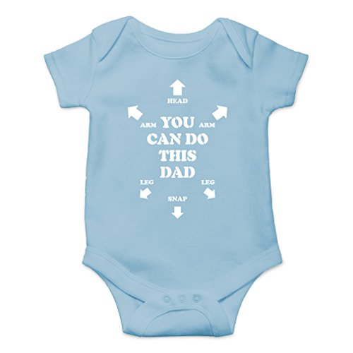 (AW Fashions You Can Do This Dad Cute Novelty Funny Infant One-Piece Baby Bodysuit (6 Months, Light)