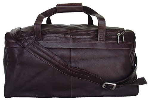 Piel Leather Collection Traveler's Select Small Duffel Bag in Chocolate