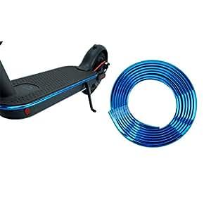 Sumeier Body Anti-Collision Strip - 6.67 Feet Plating Decorative Bumper Strip Scratch Prevention Protective Tape for Xiaomi Mijia M365 Ninebot ES1 ES2 ES3 ES4 Electric Scooter (Blue)