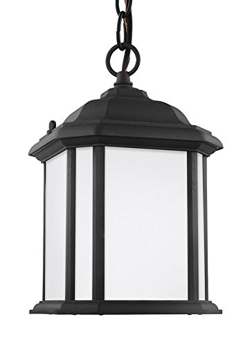 - Sea Gull Lighting 60529-12 Kent One-Light Outdoor Semi-Flush Convertible Pendant, Black