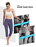 ALONG FIT Yoga Capris with Pockets for Women Tummy