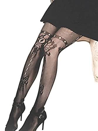 Yelete Killer Legs Women's Sexy Black Fishnet Pantyhose at