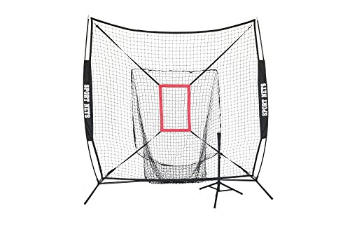 Sport Nets Large Mouth Hitting Net with Strike Zone and Tee (Black) by Sport Nets