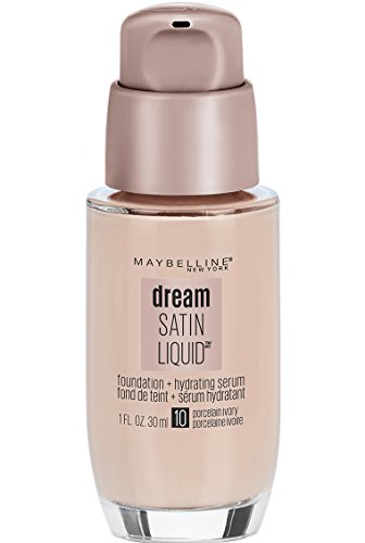 (Maybelline Dream Satin Liquid Foundation (Dream Liquid Mousse Foundation), Porcelain Ivory, 1 fl.)