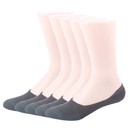RioRiva Women Cotton Non-Slip No Show Low-Cut Liner Socks (5 Pack )