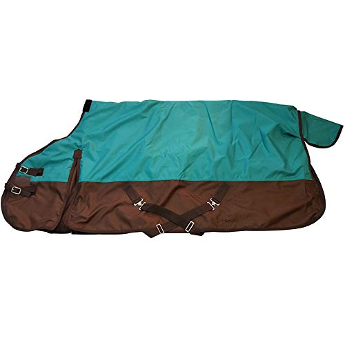 TGW RIDING 600 Denier Waterproof and Breathable Horse Turnout Sheet (76, Turquoise)