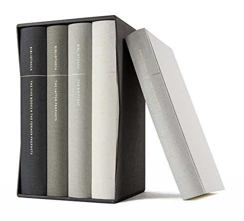 Bibliotheca: Complete Multi-volume Reader's Bible Clothbound Set (Including the Apocrypha at no extra cost, with a slipcase that fits only the other four volumes)