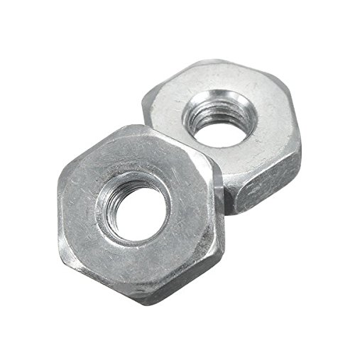 2Pcs M8x1.25 19mm Aluminium Screw Nut For Stihl Ms170/210/250/260/290/390/441/460 Saws - Tools, Industrial & Scientific Fasteners - 2 x Screw nuts