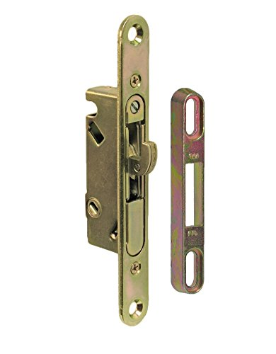 "3 Finish Replacement Glass (FPL #3-45-S Sliding Glass Door Replacement Mortise Lock with Adapter Plate, 5-3/8"" Screw Holes, 45 Degree Keyway- YZD Plating)"