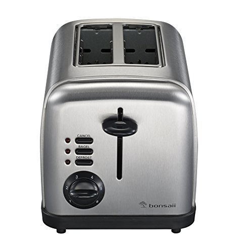 Buy Bonsaii T860 2-Slice Toaster,Bagel Toster,Defrost and Cancel Function with Variable Browning Control,Stainless Steel Housing (online)