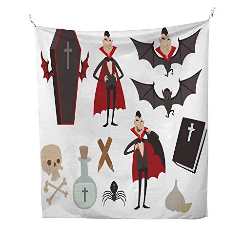 mandela tapestries Cartoon dracula vector coffin symbols vampire