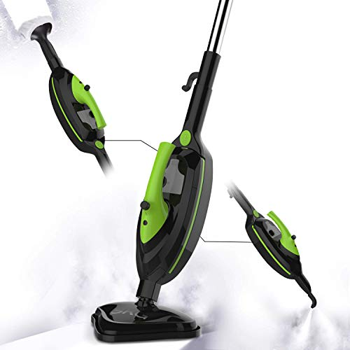 (SKG 1500W Steam Mop, Floor Steamer, Carpet Steam Cleaner, Multifunctional Cleaning Machine, Black)