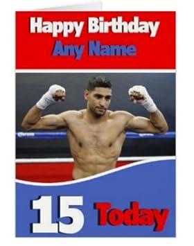 Amir Khan Birthday Card