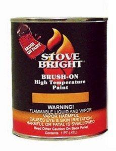 Stove Bright Satin Black Brush - On 1200 Degree Paint - pint