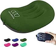 Inflatable Camping Travel Pillow, Ergonomic Neck and Lumbar Support - Ultralight Compressible Sleeping Pillows