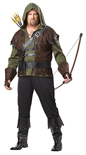 California Costumes Plus-Size Robin Hood Shirt With Vest, Olive/Brown, One Size Costume for $<!--$26.00-->
