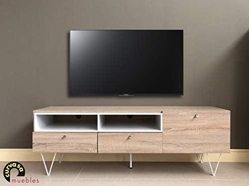 Curvasa - Mesa TV Color Roble Sonoma 150 x 42 x 52 cm Apolo ...