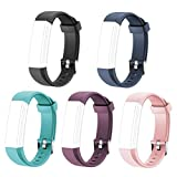COOLEAD ID115U Replacement Bands - Adjustable Replacement Straps for Activity Tracker ID115U, ID115UHR, One Set 5 Color(Black,Purple,Blue,Green,Pink)