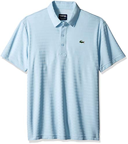 Lacoste Men's Sport Short Sleeve Golf Ultra Dry TECH Jersey Polo, Dream Blue, Medium