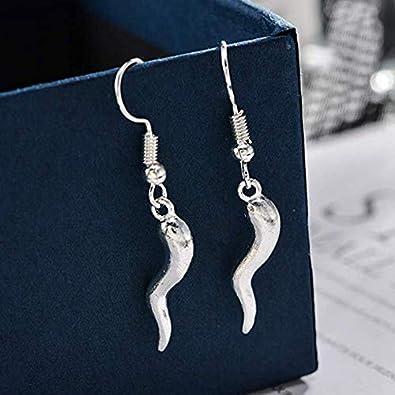 Tiande Italian Horn Drop Earrings Talisman Italian Jewelry Lucky Geometric Dangle Earrings Personality Gifts