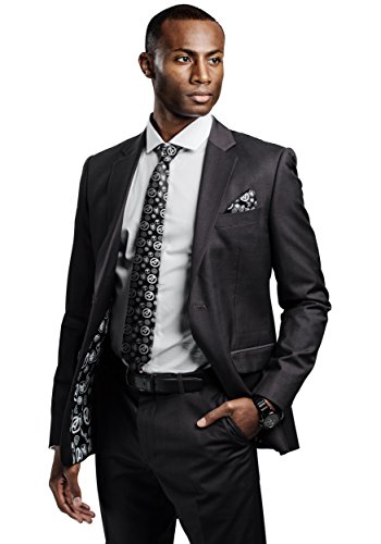 Avengers Slim Fit Suit Jacket Charcoal/Marvel Business Suit Coat Separate with Comic Lining - 40R -