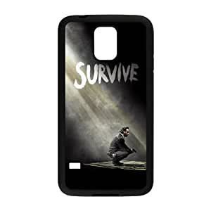 Durable Hard cover Customized TPU case The Walking Dead Season 5 Survive Rick Samsung Galaxy S5 Cell Phone Case Black