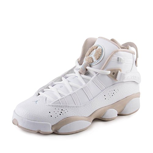 Nike Boys Jordan 6 Rings GG White/Sand Leather Size 5.5Y by Jordan