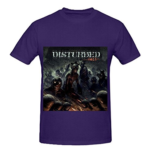 disturbed-hell-roll-men-round-neck-cute-t-shirts-purple