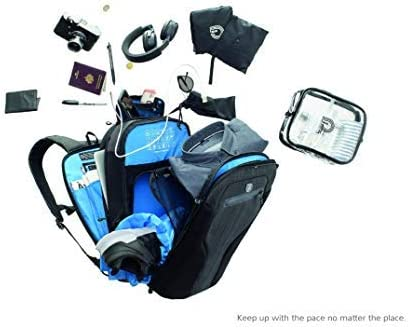 Sac /à Dos daffaires pour Hommes et Femmes Multi-Fonctionnel MUB Biarritz Deluxe Traveler Gris Sac /à Dos Voyage Sacoche Ordinateur Portable 17 Pouces Laptop Backpack