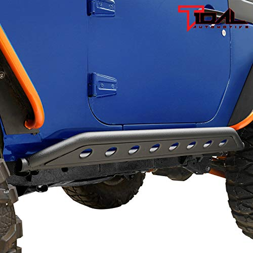 2 Doors Off-Road Steel Rocker Guard with Plate for 2007-2018 Jeep Wrangler JK