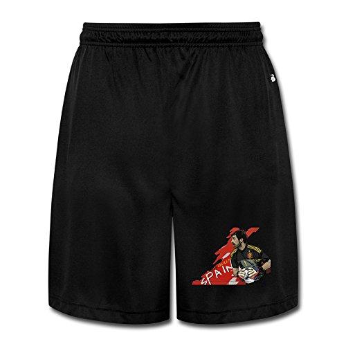 (Iker Casillas Fernández Mens Jogger Nice Material Heavyweight Shorts Pants Black)
