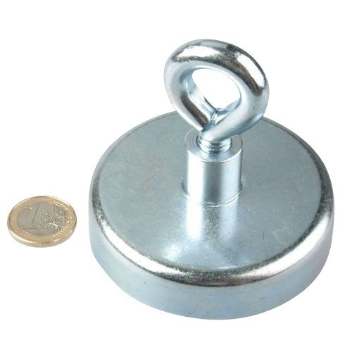 Supermagnete mit extremer Haftkraft f/ür Industrie und Zuhause Magnet/ösen Neodym /Ø 75mm Haftkraft 160 kg starke Magnete NdFeB /Ösenmagnet Neodym Magnet mit /Öse Zink