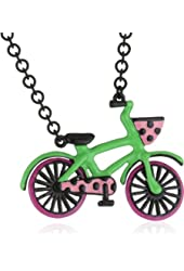 """Betsey Johnson """"60's Mod """" Bicycle Pendant Necklace"""