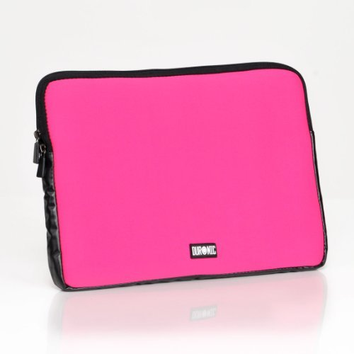 duronic-ls02pk-pink-102-premium-water-resistant-neoprene-laptop-pouch-sleeve-for-notebooks-upto-102-