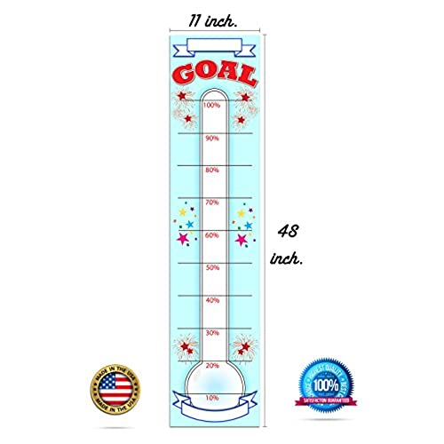 80OFF Goal Setting Fundraising Donation Thermometer