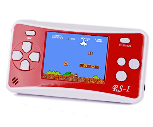 Kids' Classic Retro Handheld Game Console,QINGSHE Portable Video Game Player 2.5'' LCD 8 Bit 152 in 1 Games ,Arcade Style Old School Gaming System,Best Electronics Toys for Kids as Birthday Gift-RED