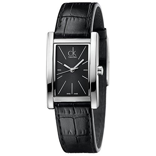 CK-Reloj-de-cuarzo-para-mujer-correa-de-cuero-color-negro