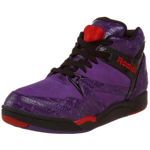 Reebok Women's Pump Aerobic Lite Mid Classic Sneaker,Purple Emperor/Black/Rbk Red,10 M US