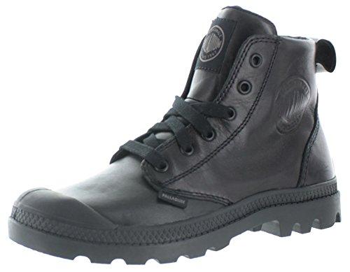 - Palladium Pampa Hi Leather M Zip Women's Black/Metal Lace Up Ankle Hiking Combat Boots