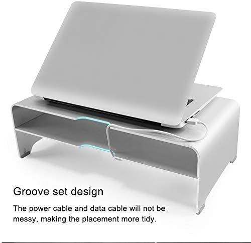 Size Universal Aluminum Alloy Double-Layer Laptop Stand with Storage Function 50 x 22 x 13cm Durable