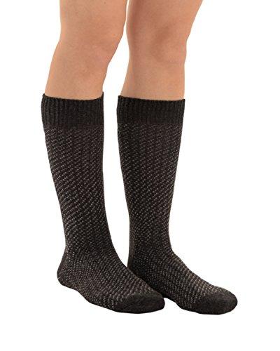 Mens Patterned Socks Wool Cashmere Blend Black Grey Brown Red Knit Dress Socks Color:: Charcoal
