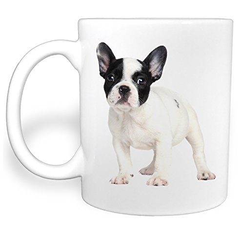 - Black and White French Bulldog Puppy Dog - 11 Ounce Ceramic Coffee Mug