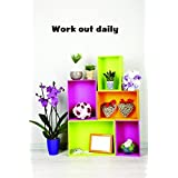 Top Selling Decals - Prices Reduced Work Out Daily Wall Art Size: 6 Inches X 20 Inches 22 Colors Available
