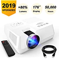 Visoud Full HD 1080p 2200-Lumens Mini Portable Projector