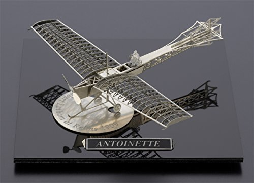 Aero Base Metal Airplane Model of the Antoninette by Aerobase from Japan - Silver Colored