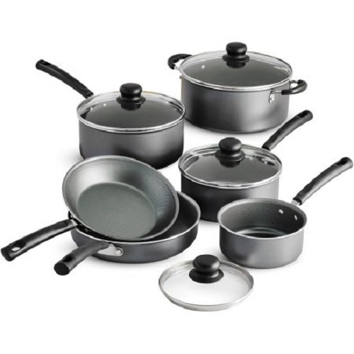 Tramontina PrimaWare Dishwasher Safe Steel Gray 10-Piece Nonstick Cookware Set With Heat and Shatter-Resistant Tempered Glass Lids by ''Tramontina USA, Inc.''