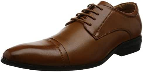 MM/ONE Men's Derby shoes Oxford Straight-tip Lace-up Dress Shoes Black Dark Brown